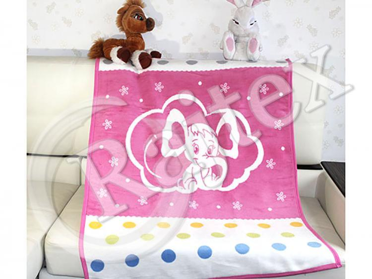 Плед cotton Rajtex 100*140 слоник розовый 12903b