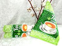 Кухонные полотенца зеленый чай