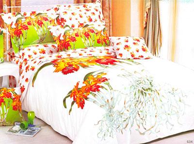 Комплект постельного белья Сайлид G-034 3D сатин