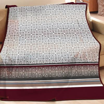 Плед cotton Rajtex 200*220 Блюз бордо 14128b